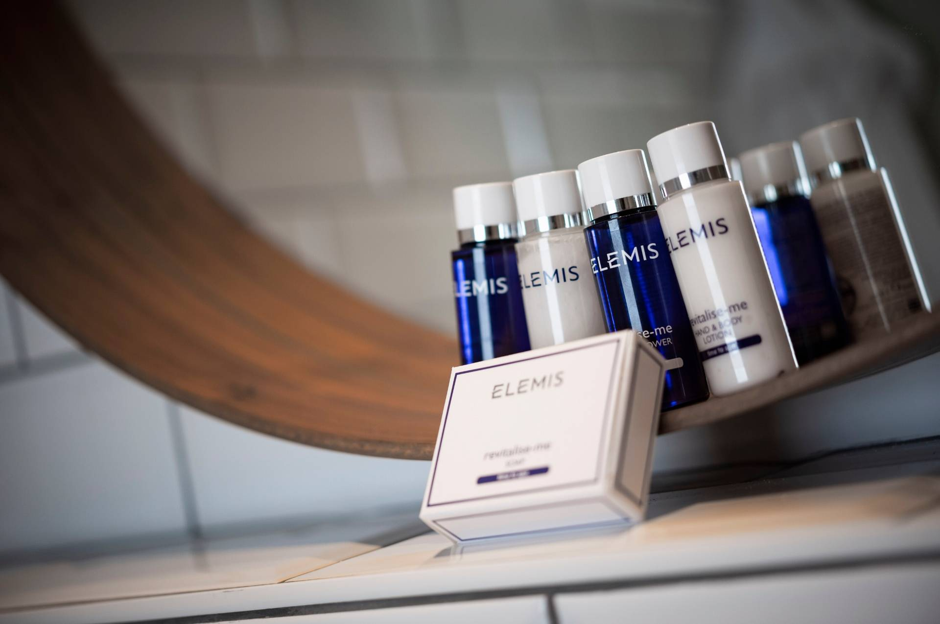 Selection of Elemis products PREMIER SUITES Antwerp